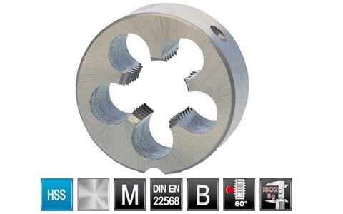 Плашка левая Ruko DIN EN22568 6g HSS LH М5х0,8 мм 237050Li