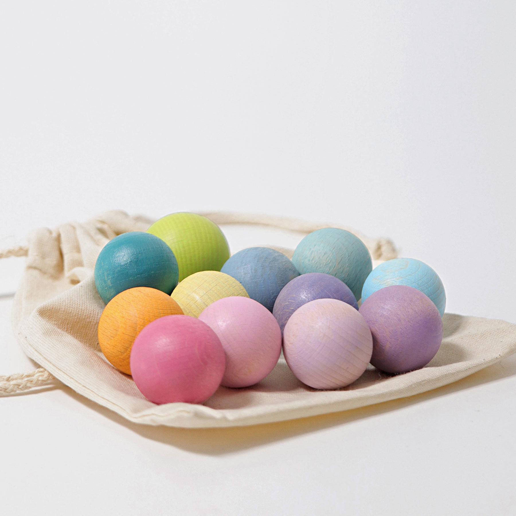 Набор 12 шаров пастельных цветов 35 мм (Grimms)