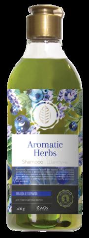 Romax Aromatic Herbs Шампунь Лаванда и Голубика для поврежденных волос 400г