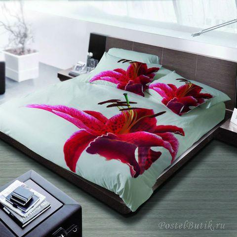 Постельное белье 2 спальное евро макси Byblos Iris белое
