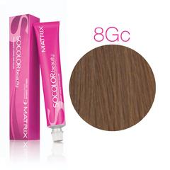 Matrix Socolor Beauty 8 Gc Светлый блондин золотисто-медный, стойкая крем-краска для волос 90 мл