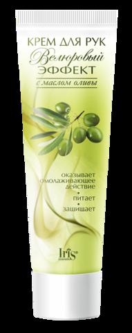 Iris Велюровый эффект Крем для рук с маслом оливы Омолаживающий 100мл