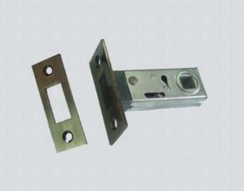 Фурнитура - Защёлка Межкомнатная магнитная Renz Magn 5-50, цвет латунь блестящая