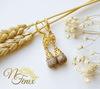 """Швензы - крючки """"Волна"""", 15 мм (цвет - золото), пара (Серьги с Яшмой. Пример)"""