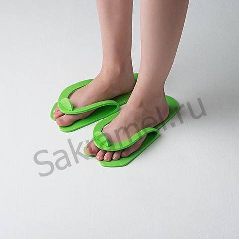 Тапочки-вьетнамки Салатовый (25 пар) -Пенополиэтилен 5 мм