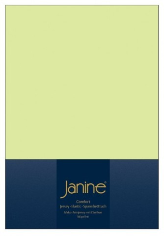 Элитная простыня на резинке Elastic-Jersey 5002 светло-зеленая от Janine