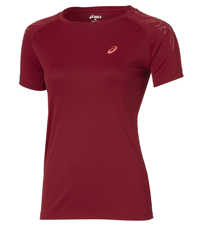 Женская футболка для бега Asics Stripe SS Top (126232 6010) красная