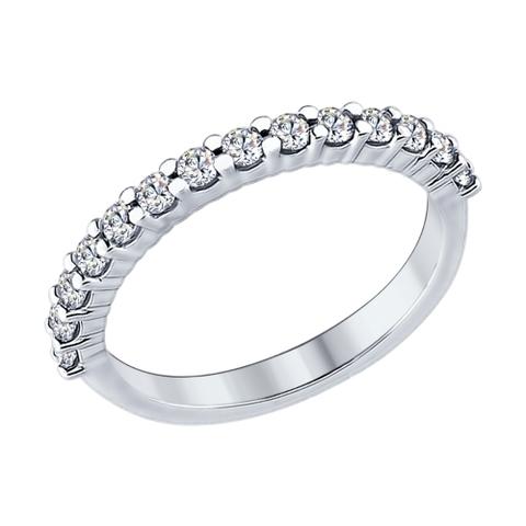 Кольцо дорожка из серебра с фианитами от SOKOLOV арт.94012183