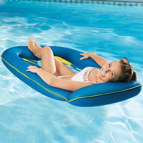 Шезлонг надувной для отдыха на воде 160см.