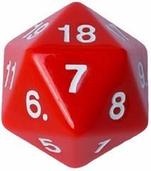 Кубик - счётчик жизней 55 мм красный