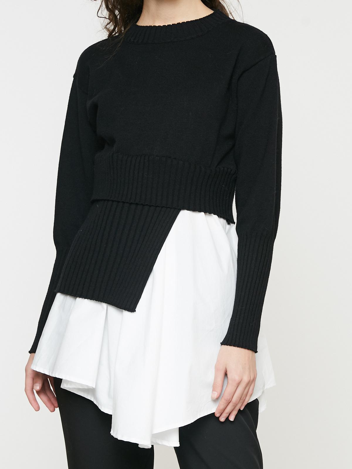 Джемпер комбинированный рубашкой