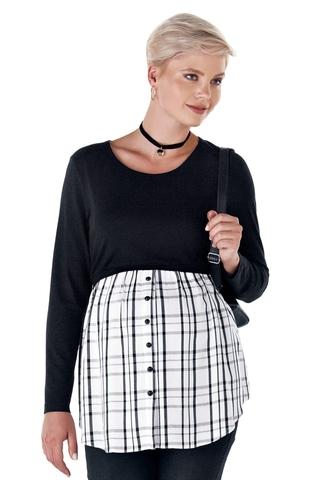Блузка для беременных и кормящих 11054 чёрный