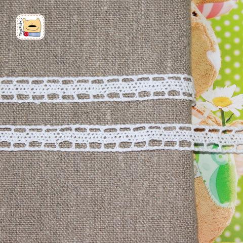 Кружево вязаное К80 (белое) 90см