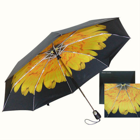 Эксклюзивный двухсторонний зонт с ярким цветком