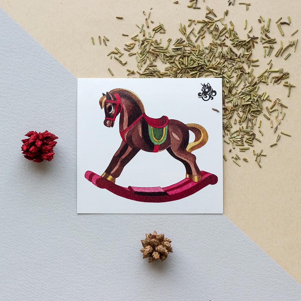 Переводная татуировка Rocking Horse