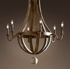 Wine Barrel Chandelier 32