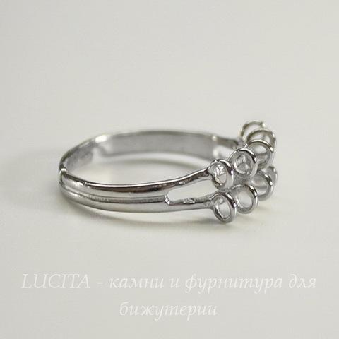 Основа для кольца 10 петелек (цвет - платина)