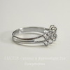 Основа для кольца с петельками (10 петелек) (цвет - платина)