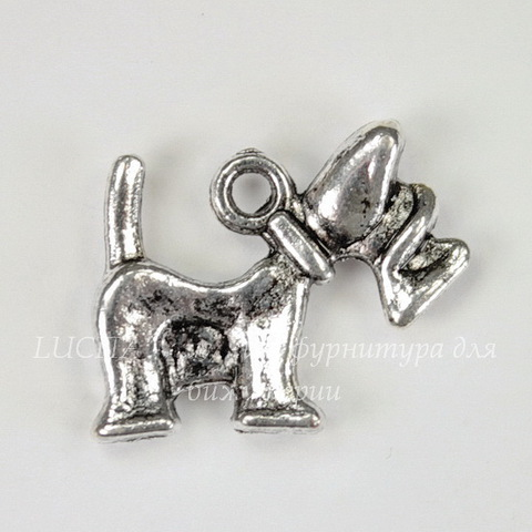 """Подвеска """"Скотч-терьер"""" (цвет - античное серебро) 18х15 мм"""