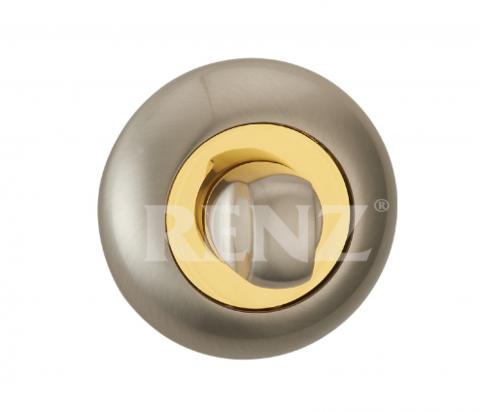 Завёртка К Ручкам  Renz BK 08, цвет никель матовый/латунь блестящая