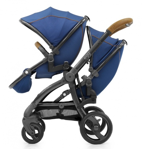 Egg Прогулочный блок для второго ребенка Tandem Seat Regal Navy & Mirror Chassis