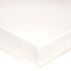 Простыня на резинке 160x200 Blanc des Vosges сатин молочная
