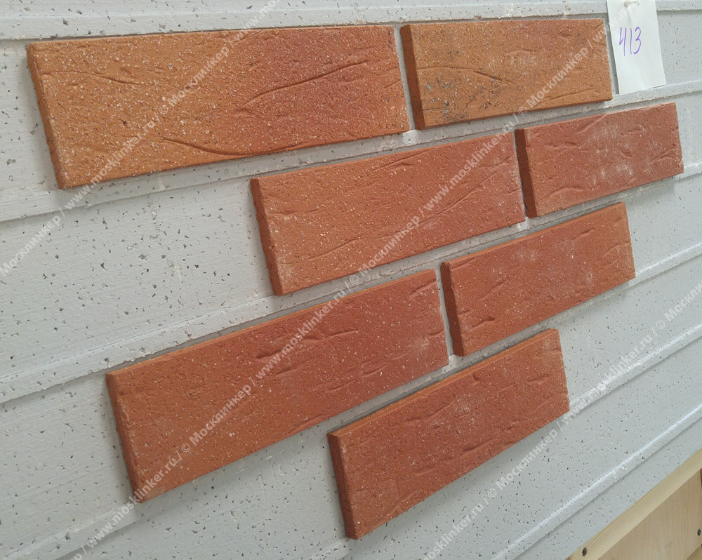 Stroeher - 413 utrecht, Keraprotect, неглазурованная, поверхность под шагрень с посыпкой, 240x71x11 - Клинкерная плитка для фасада и внутренней отделки