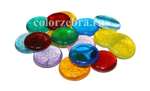 Декоративное стекло Эльвинги цветные 4,5 см
