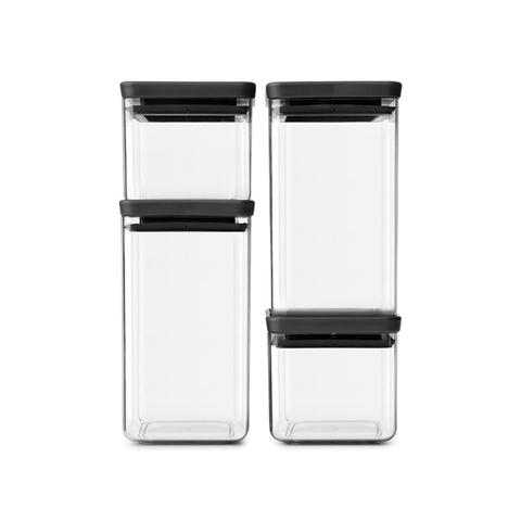 Набор прямоугольных контейнеров 4 шт, Темно-серый, артикул 122422, производитель - Brabantia