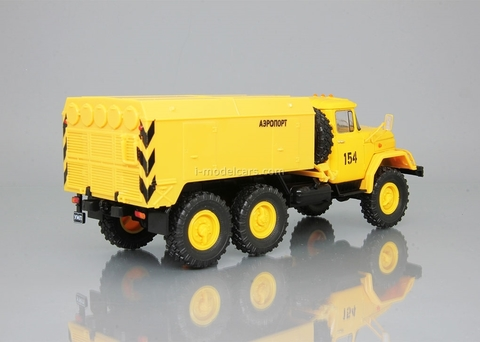 ZIL-131 UMP-350 Airport yellow 1:43 DeAgostini Auto Legends USSR Trucks #18