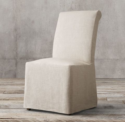 Hudson Roll-Back Slipcovered Side Chair