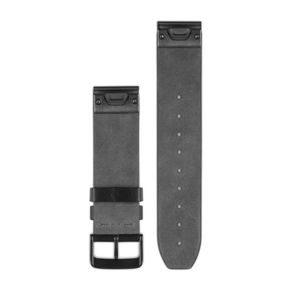 Кожаный ремешок Garmin QuickFit 22 мм черный