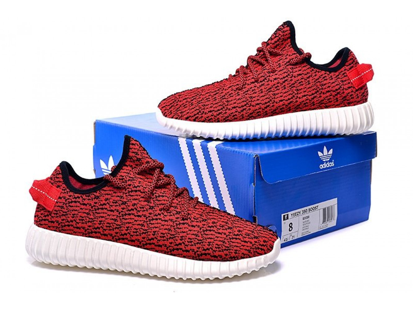 Adidas Yeezy 350 Boost By Kanye West Жен (Red) (002)