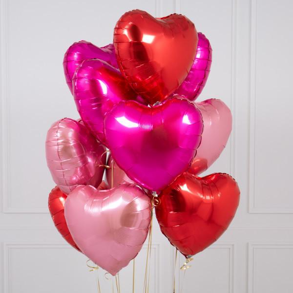 "Композиции Букет из сердец ""Красно-Розовый"" web-res-star-and-heart-foil-bunches-4.jpg"