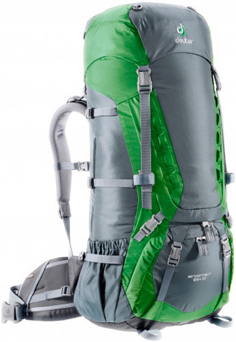 Рюкзак Deuter 2015 Aircontact 65 + 10 granite-emerald