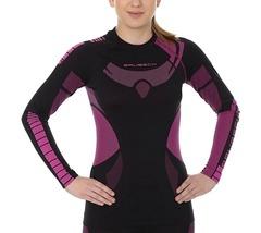 Женское термобелье терморубашка Brubeck Dry черный-амарат | Интернет-магазин Five-sport.ru