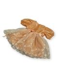 Платье из тафты - Оранжевый. Одежда для кукол, пупсов и мягких игрушек.