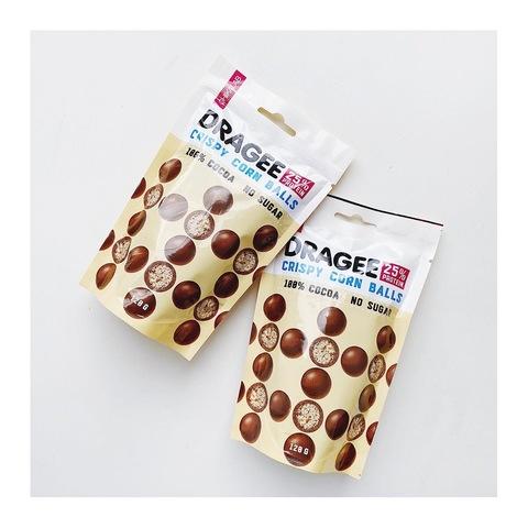 Протеиновое драже Chikalab Кукурузный шарики в шоколаде, 120 гр