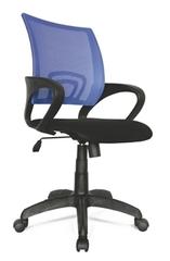 Офисное кресло Формула с синей спинкой из сетки