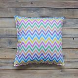 Подушка Colored Zigzag цветные зигзаги