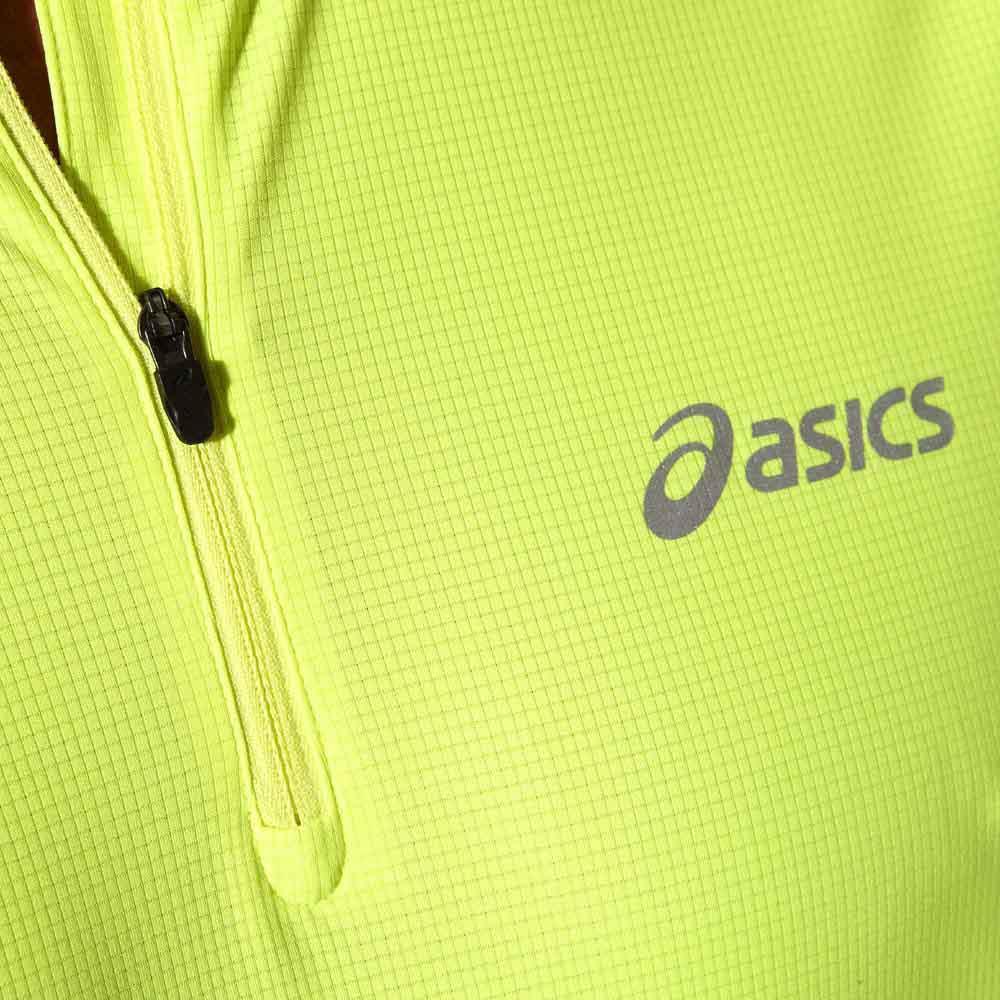Мужская рубашка для бега  Asics Ls 1/2 Zip Top (110410 0392) желтая