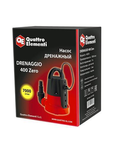 Дренажный насос QUATTRO ELEMENTI Drenaggio  400 Zero (400 Вт, 7000 л/час, 7 м)