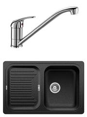 Комплект Blanco Classic 45S Антрацит + Daras Хром
