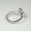 Основа для кольца с ситом 12 мм (цвет - платина)