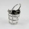 "Подвеска ""Ведерко"" (цвет - античное серебро) 40х22,5 мм"