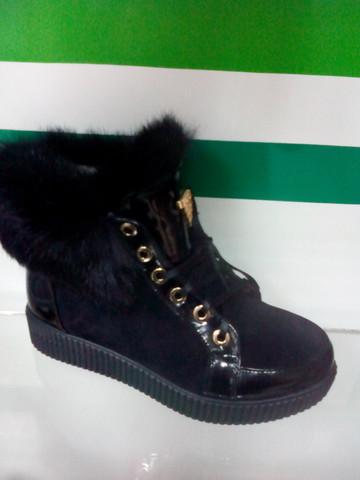 Ботинки кеды зимние с мехом женские El Passo