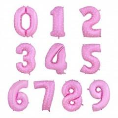 Фольгированная цифра розовая в горошек