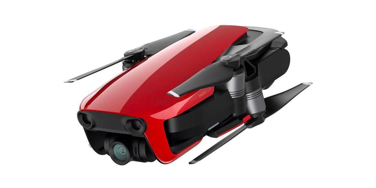 Квадрокоптер DJI MAVIC AIR Fly More Combo (EU) Flame Red, красный сложен