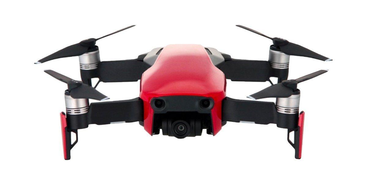 Квадрокоптер DJI MAVIC AIR Fly More Combo (EU) Flame Red, красный вид спереди