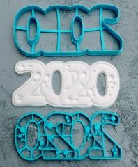 Штамп 2020 №2 форма для пряника, мастики, печенья